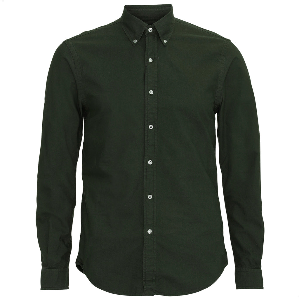Organic Cotton Button Down Shirt, Hunter Green
