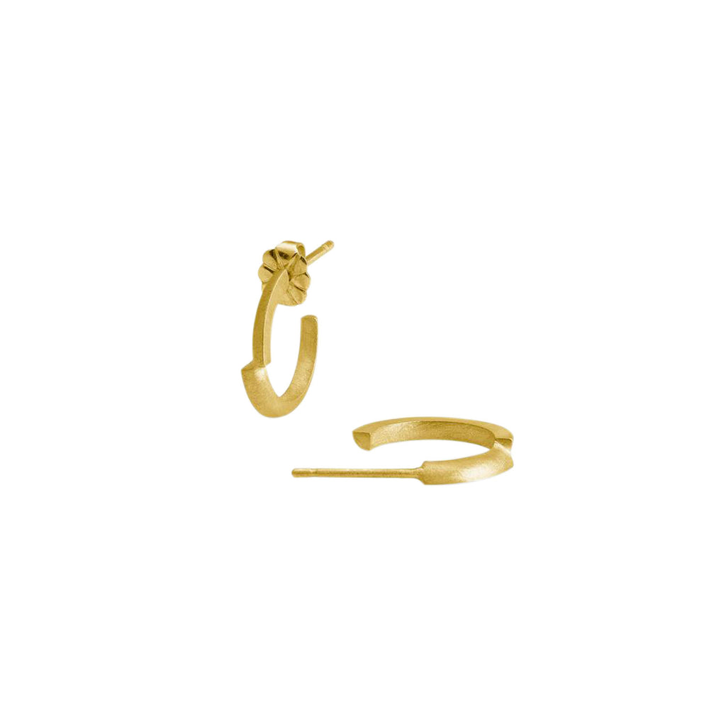 Small Ivana Hoop Earrings, Gold Plated