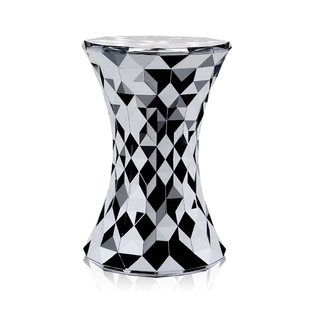 stone-stool-metallic-chrome