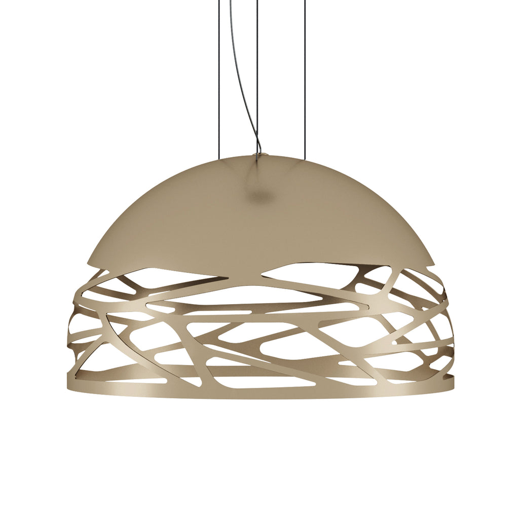 Kelly Small Dome Pendant Light, Matt Champagne