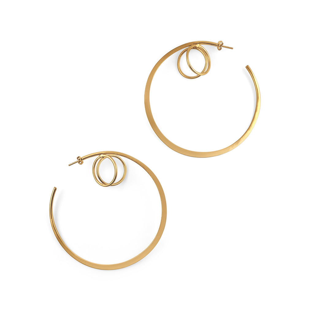 Mini Kepler Hoop Earrings