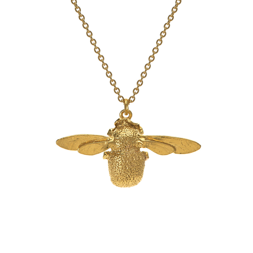 Bumble Bee Necklace, Gold Plated