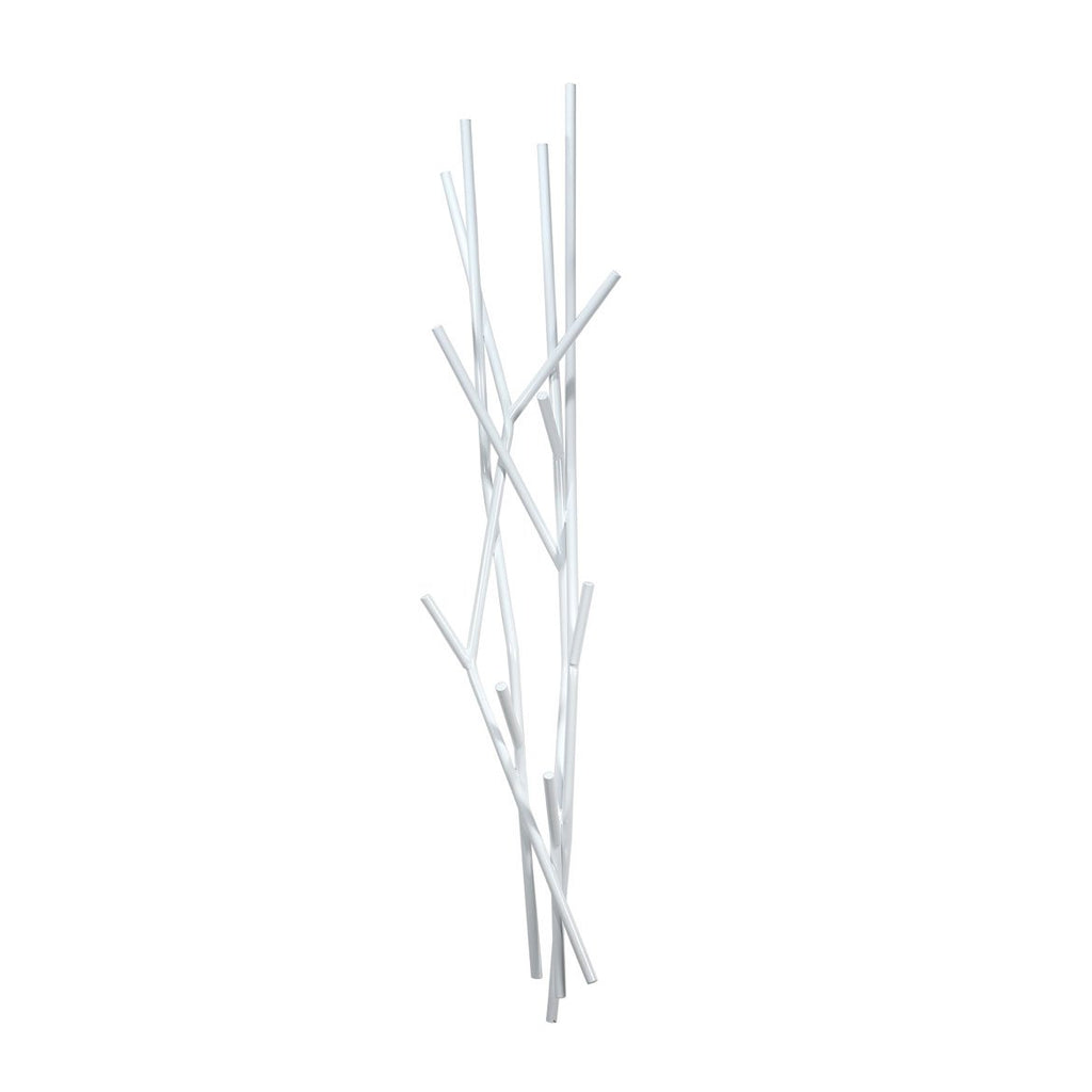Latva Wall Coat Rack White by Covo