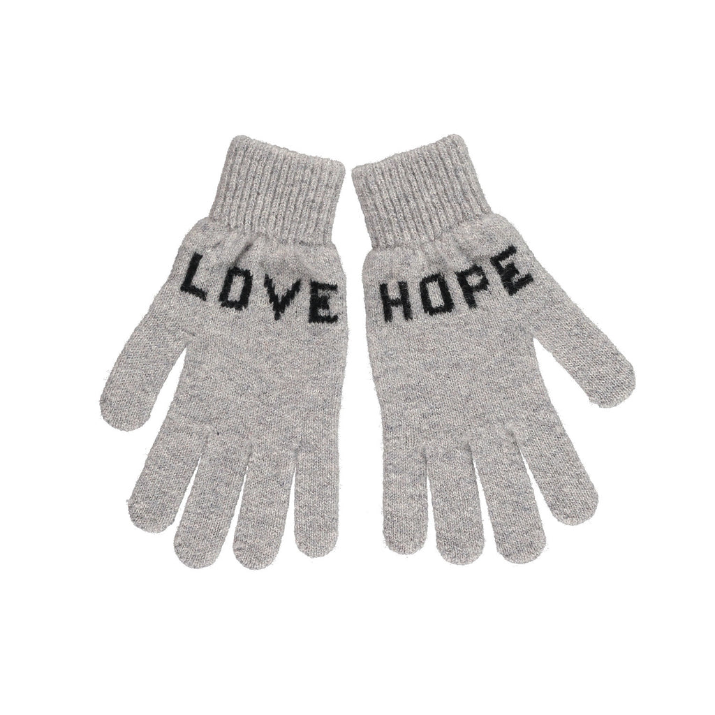 Love Hope Gloves, Grey & Black