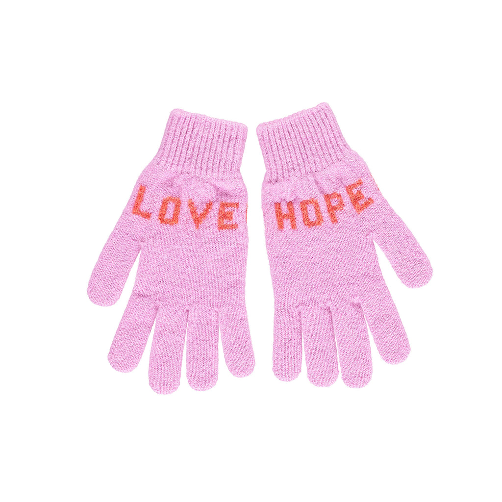 Love Hope Gloves, Pink & Red