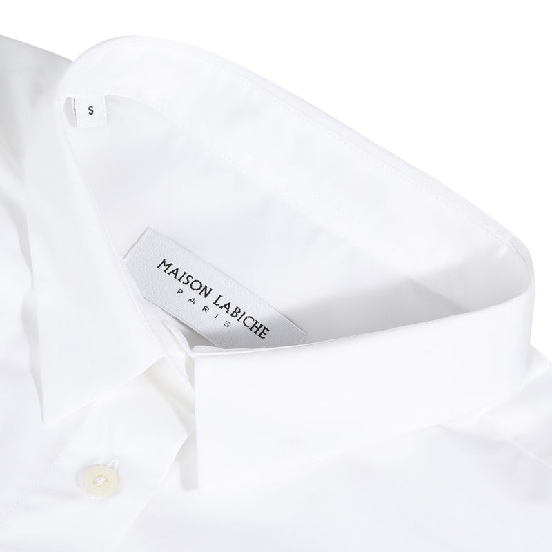 Crossover Cotton Shirt, White