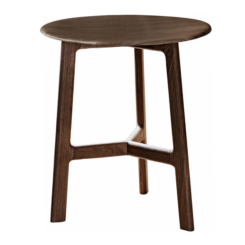 Malmö Round Side Table, Walnut