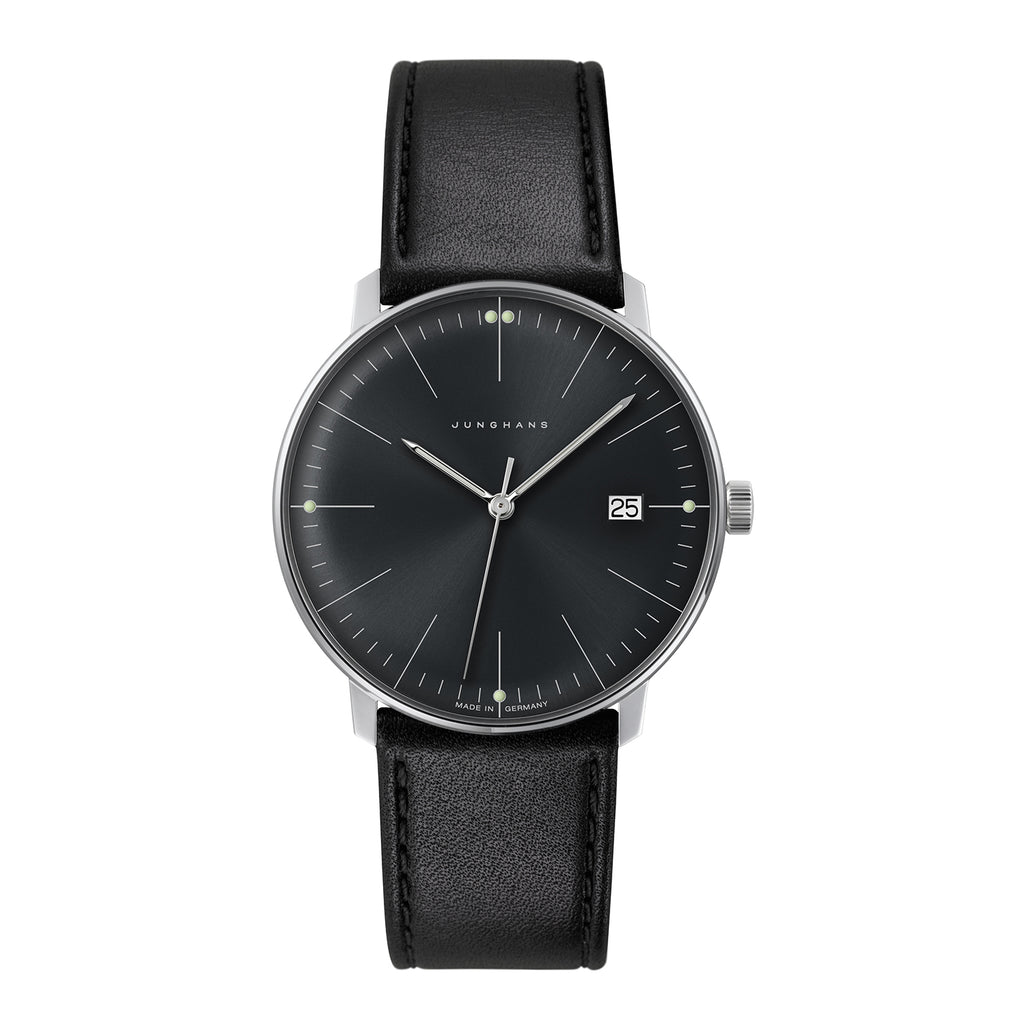 Junghans Max Bill Quartz Black Watch - 041/4465.04