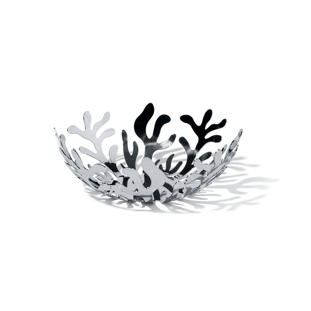 Mediterraneo Silver Fruit Holder 21 cm by Alessi