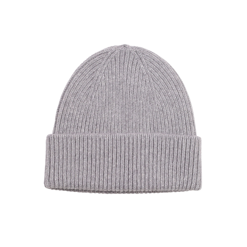 Merino Wool Beanie, Heather Grey