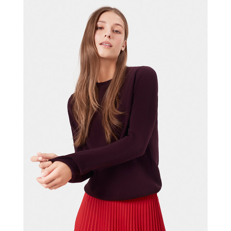 Classic Unisex Merino Wool Jumper, Oxblood Red