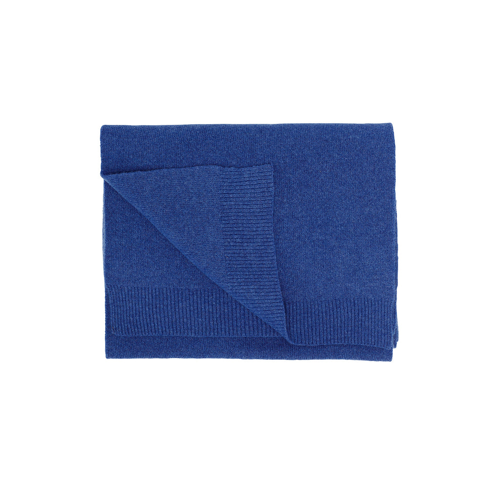 Merino Wool Scarf, Royal Blue