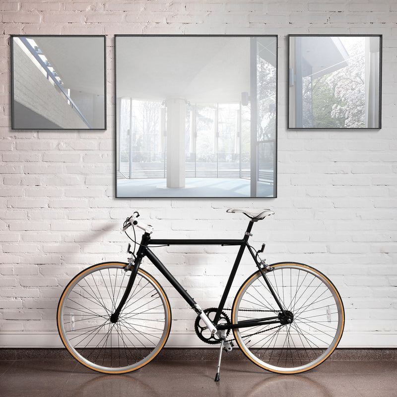 Square Mirror Black, 70cm