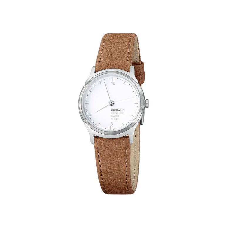 Helvetica No1 Light Women's 26 mm, White Face by Mondaine