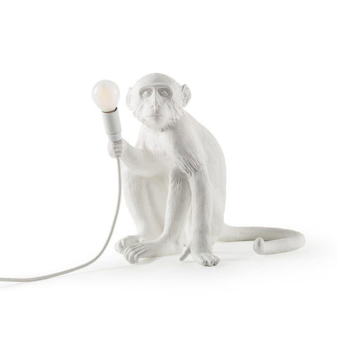 Chameleon Lamp Going Down, White