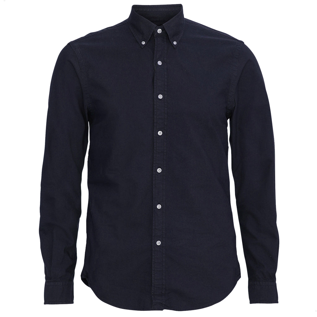 Organic Cotton Button Down Shirt, Navy Blue