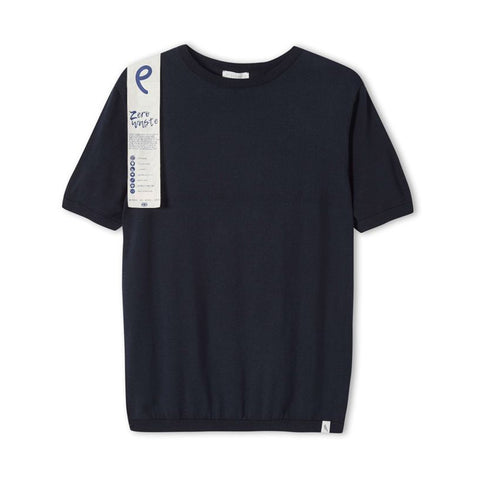 Dot Motif T-Shirt, Navy