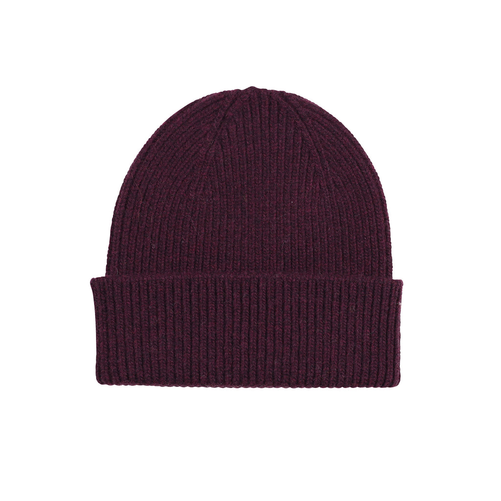 Merino Wool Beanie, Oxblood Red