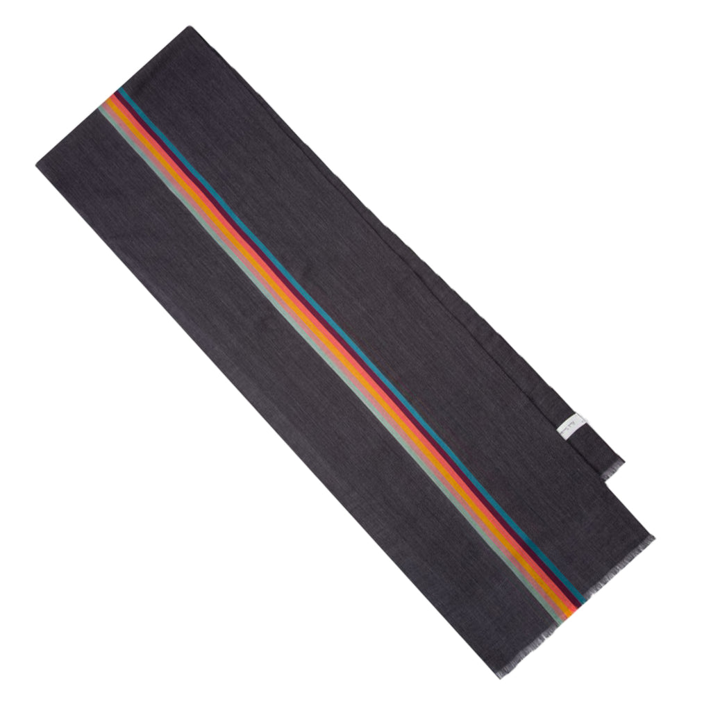 Paul Smith Stripe Scarf, Grey