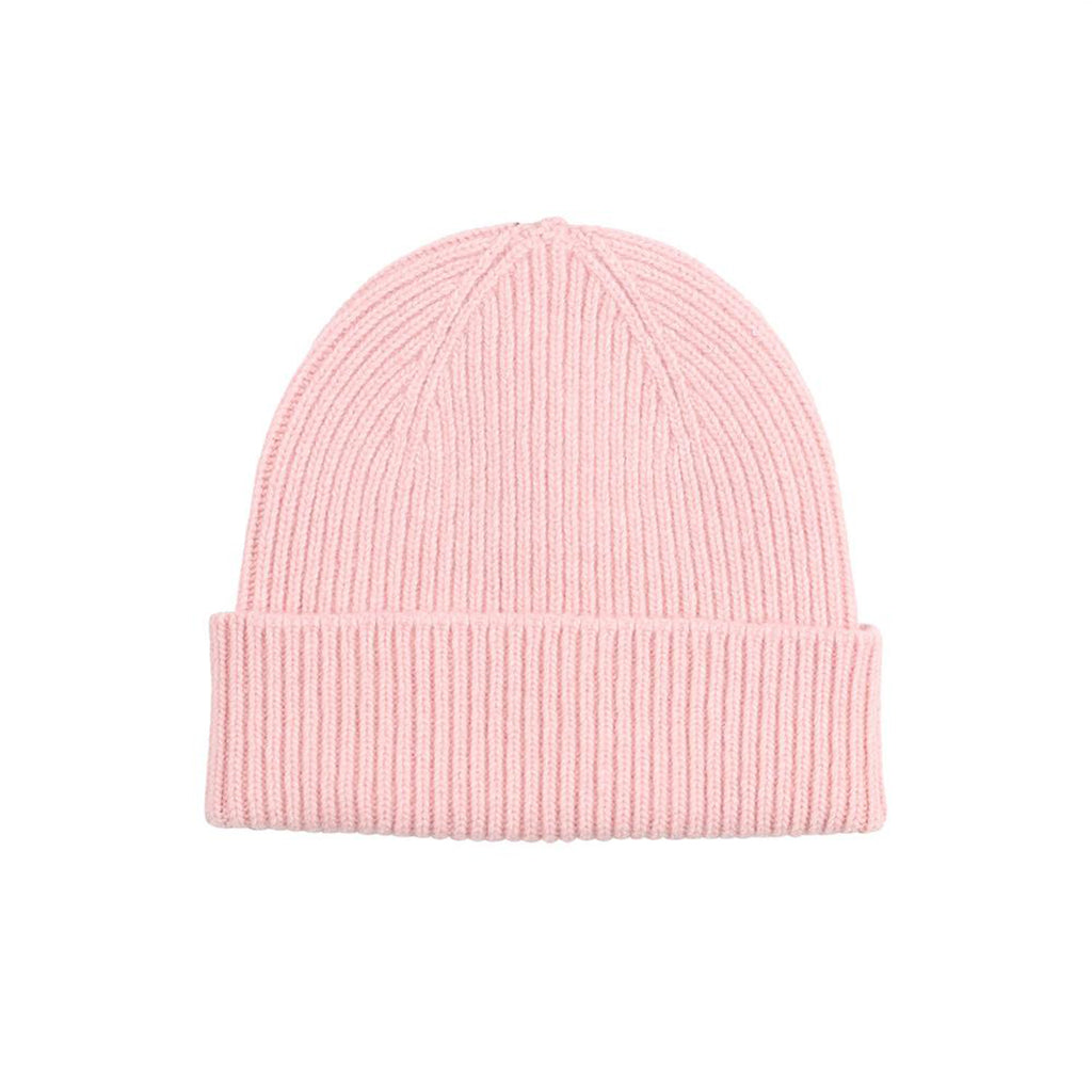Merino Wool Beanie, Faded Pink