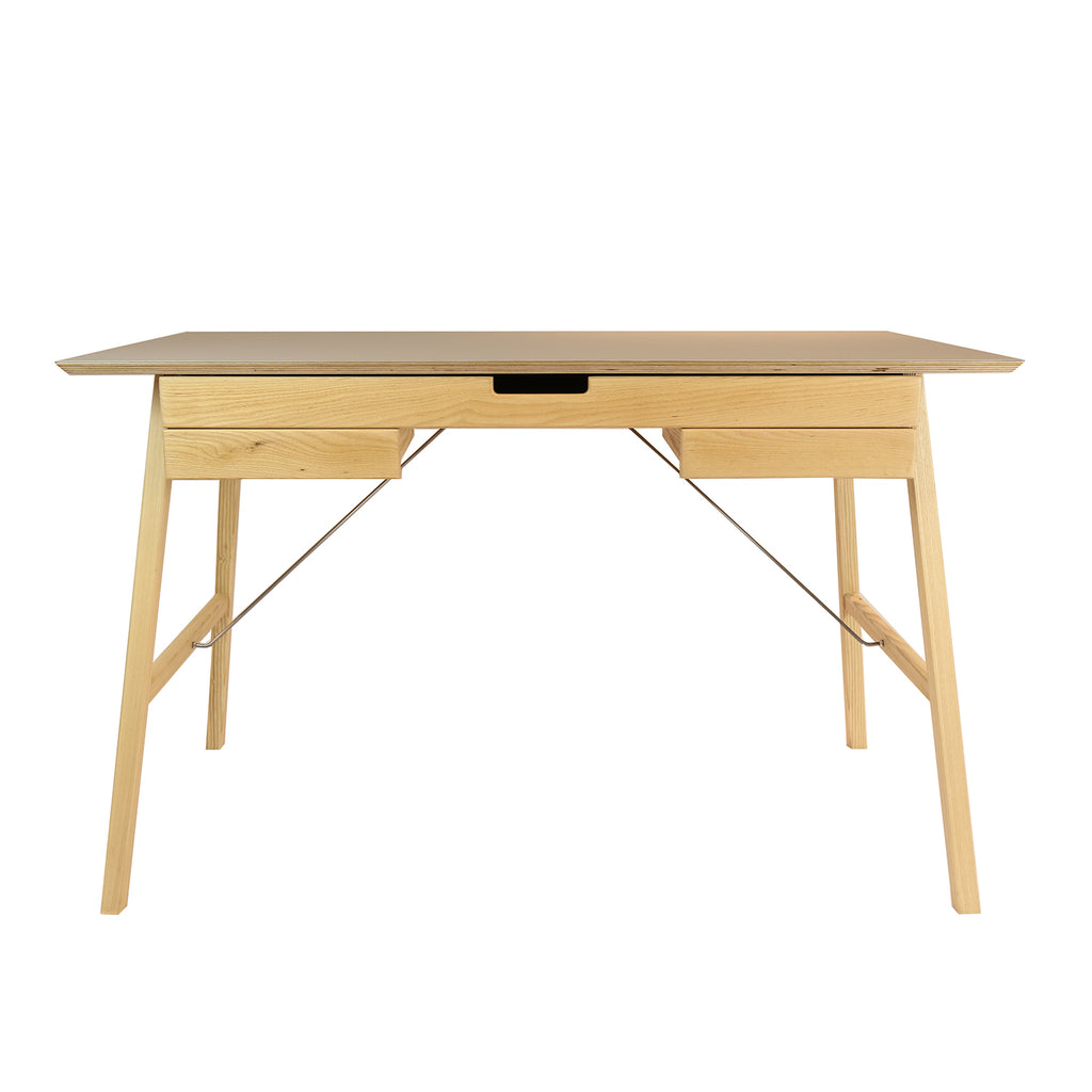 Plan Desk, Ash & Grey