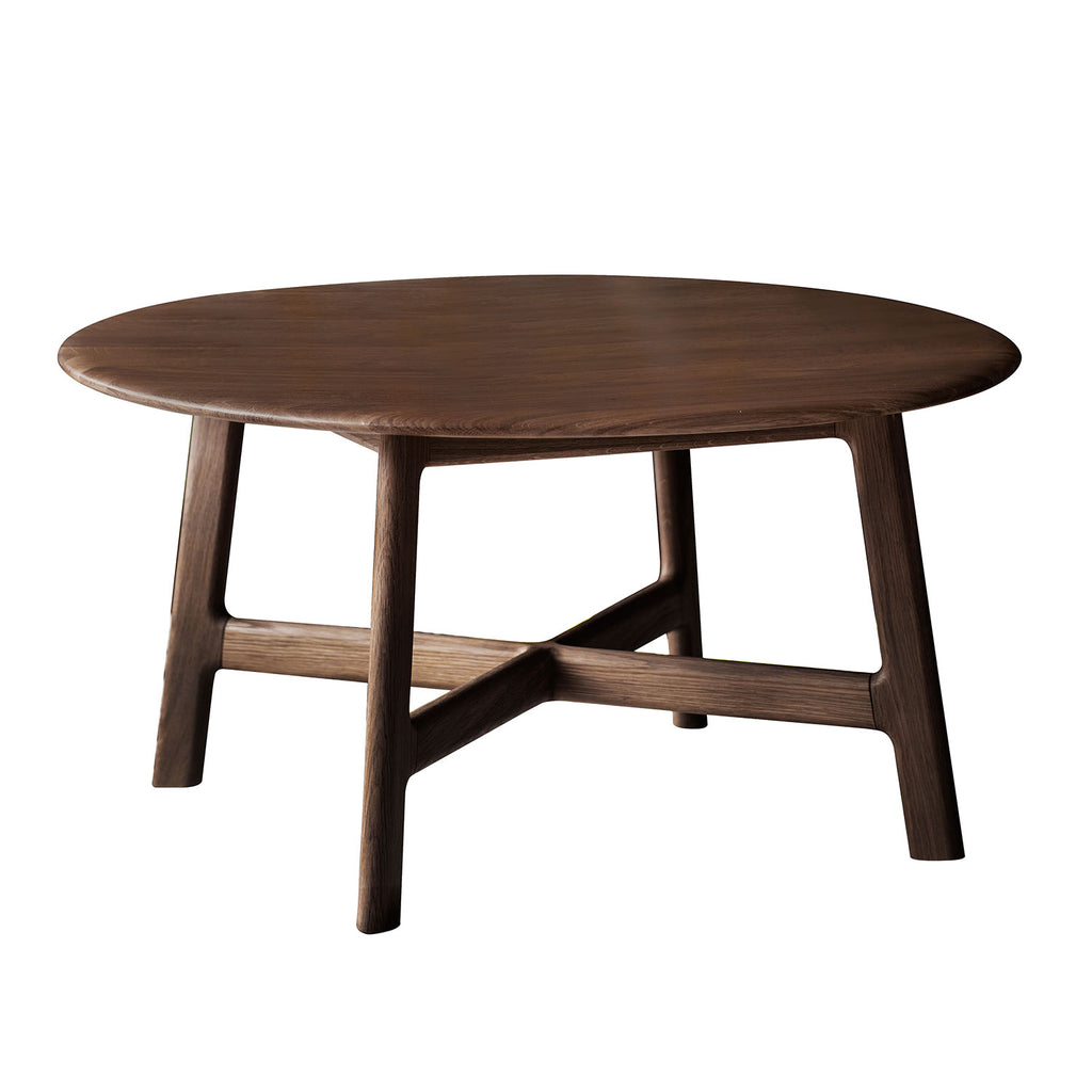 Malmö Round Coffee Table, Walnut