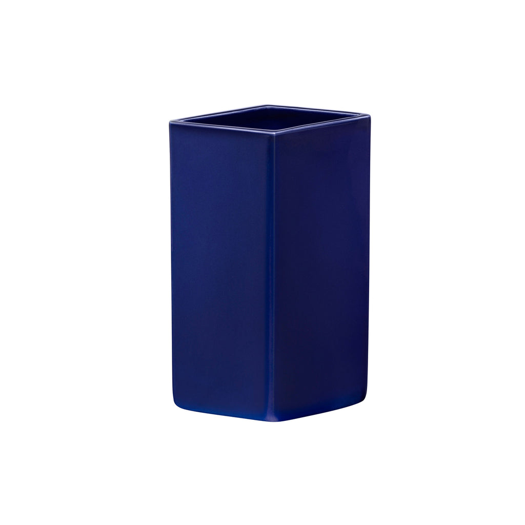 Ruutu Ceramic Vase, Dark Blue