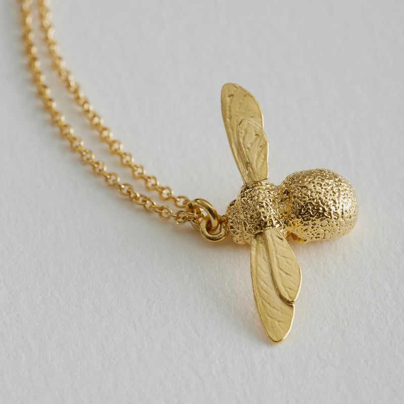 Baby Bee Necklace, Gold Plated