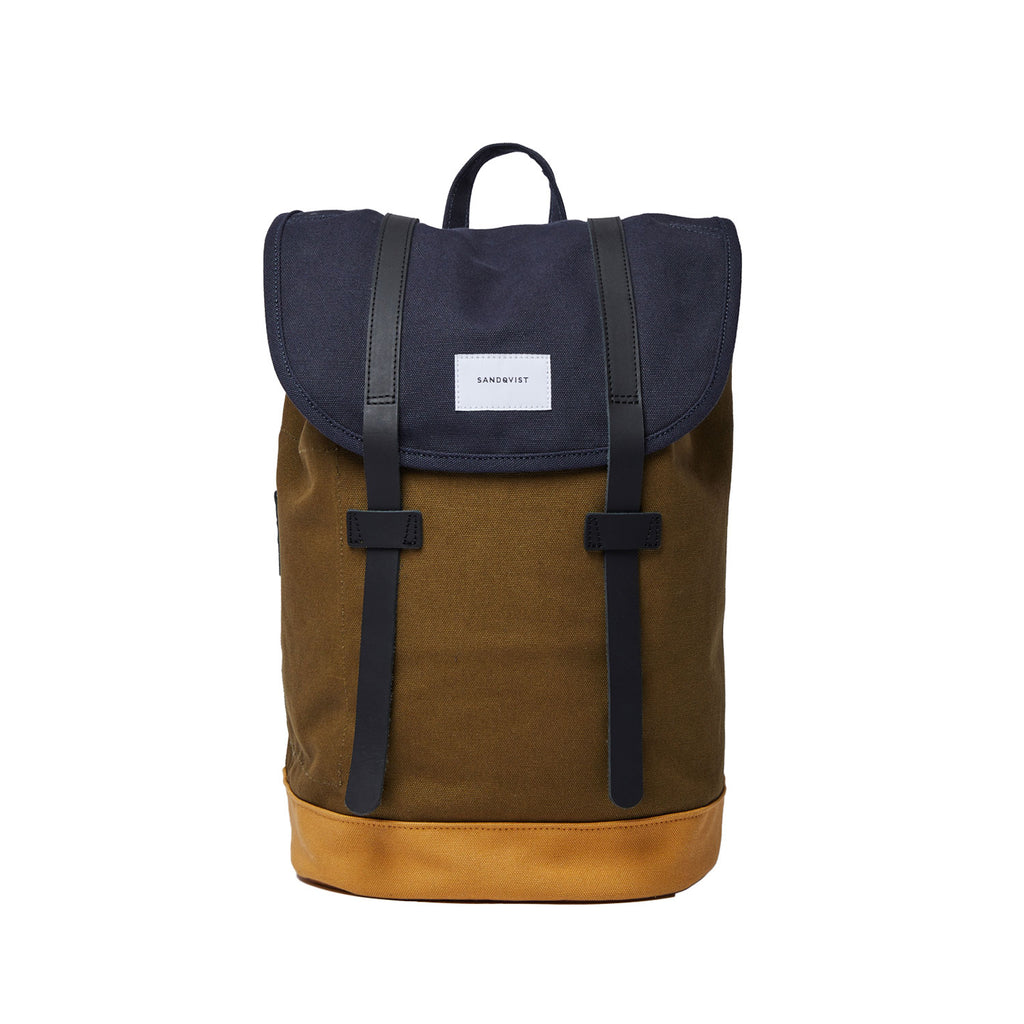 Stig  Backpack Multi, Navy & Dark Olive