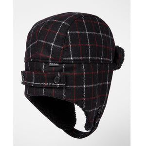 Wool Check Trapper Hat