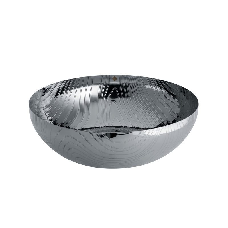 Veneer Serving Bowl, Stainless Steel
