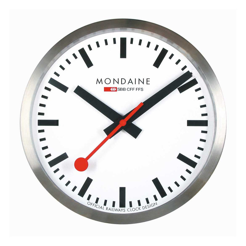 Quartz Wall Clock Stainless Steel 40 cm by Mondaine