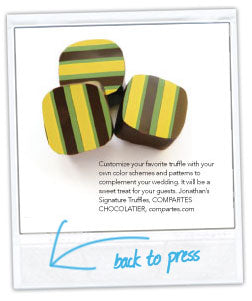 Bride & Bloom Wedding Magazine Compartes Chocolatier Truffles
