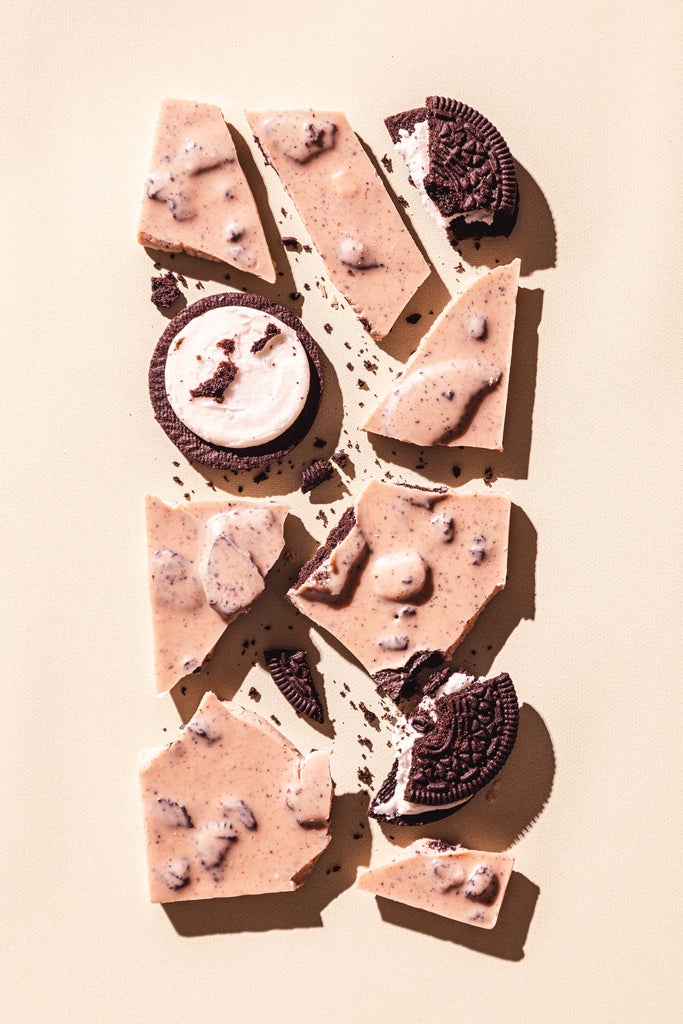 Gourmet Chocolate Bar Oreo Cookies Cream Compartes