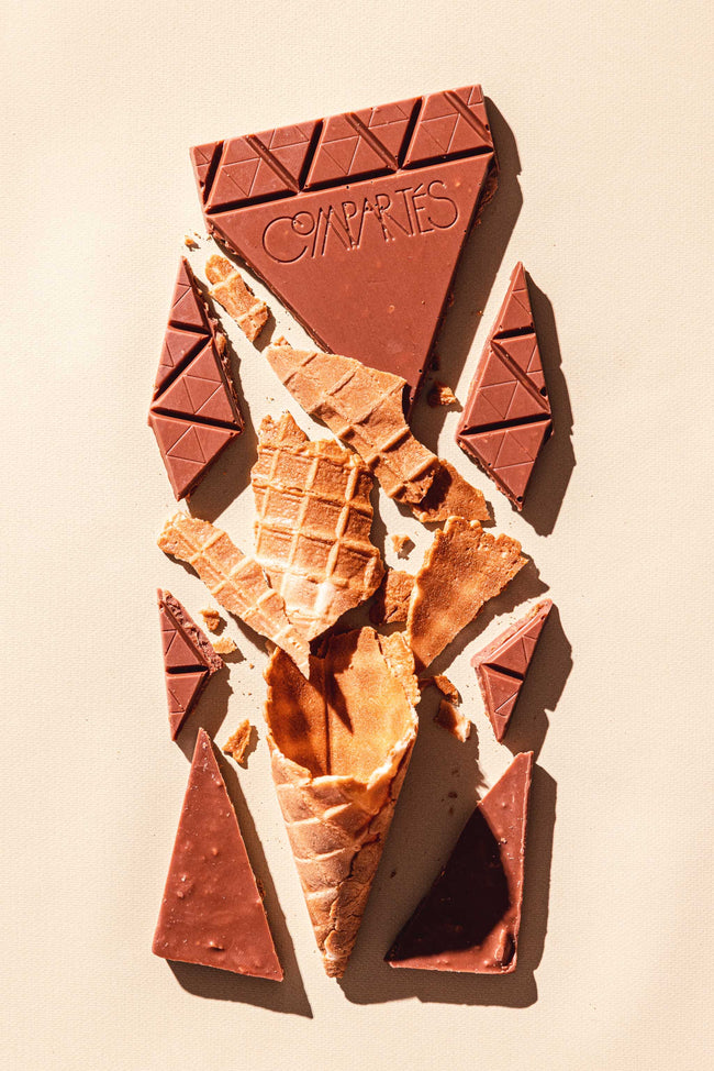 Gourmet Chocolate Bar Milk Chocolates Waffle Cone
