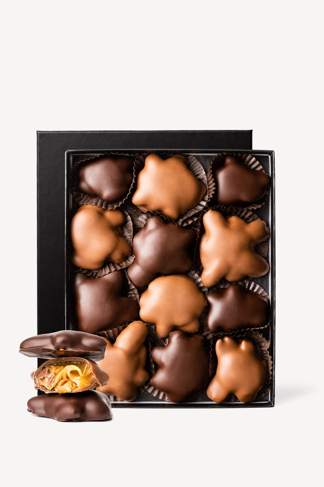 Gourmet Chocolate Covered Turtles Gift Box