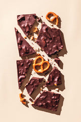 Gourmet Chocolate Bar Chocolate Covered Pretzel Dark
