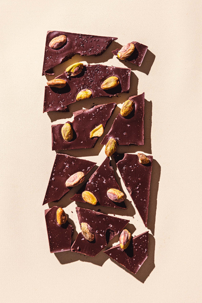 Salted Pistachio Dark Chocolate Bar