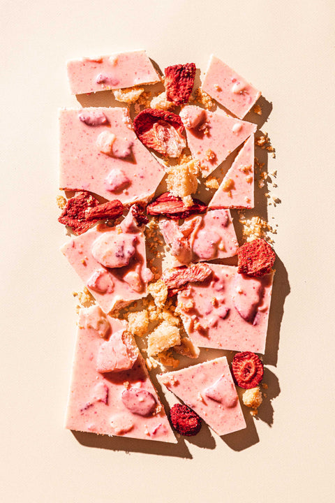 Strawberry Shortcake White Chocolate Bar