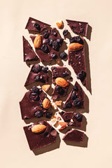 Vegan Organic Dark Chocolate Almond Blueberry Bar Luxury