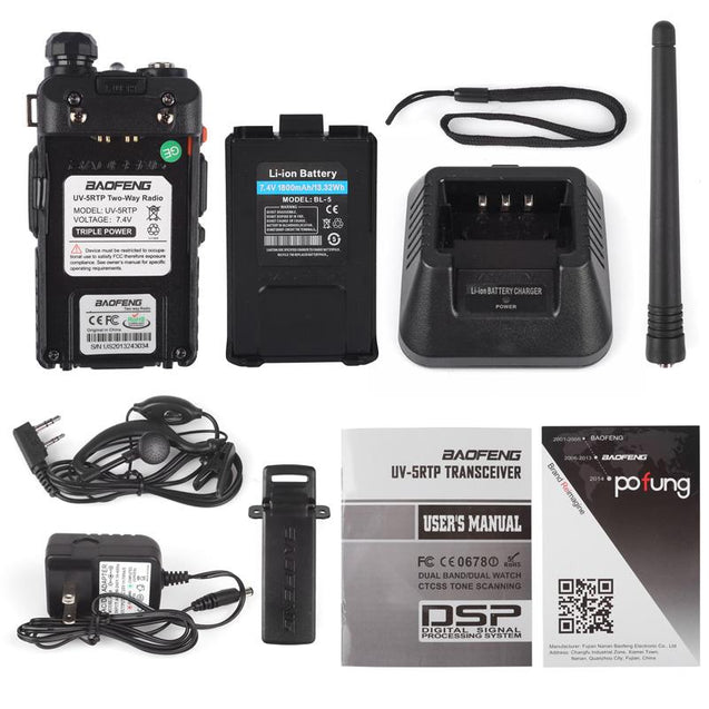 Baofeng UV-5RTP | Dual Band | 8W/4W/1W | Tri-power Two Way Radio