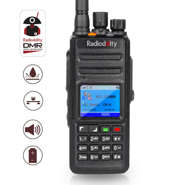 Radioddity GD-55 Plus Walkie-talkie UHF DMR med 2800mAh batteri Tier I & II