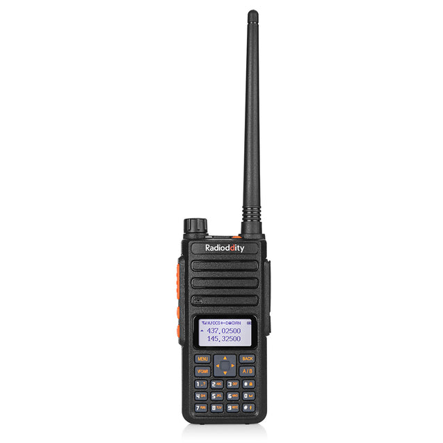 Radioddity GA-510 Dual Band Analog Radio | 10W Tri-power | Keypad Programming | with 2 Batteries