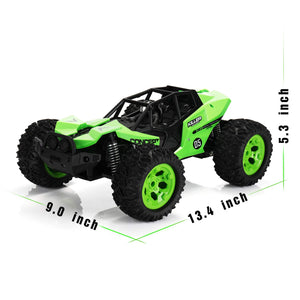 SainSmart Jr. RC Car 1:12 Scale Off-Road Remote Control 2.4GHz 2WD RC Vehicles 25KM/h High Speed Racing Car Electric Toy for Kids, Green