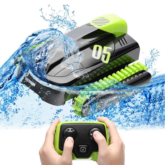 SainSmart Jr. Transform Remote Control Car Boat RC Amphibious Stunt Car Electronic Waterproof 360°Rotating High Speed Vehicle, Water Land Transforming Toys for Kids