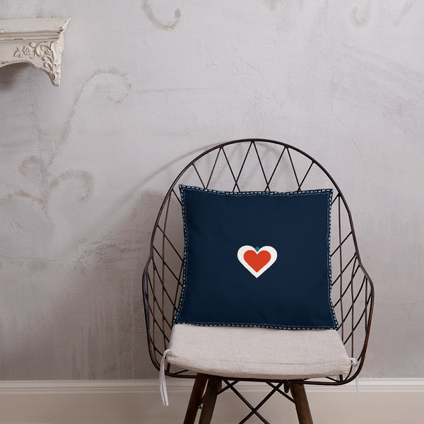 SRCE Pillow in Deep Blue