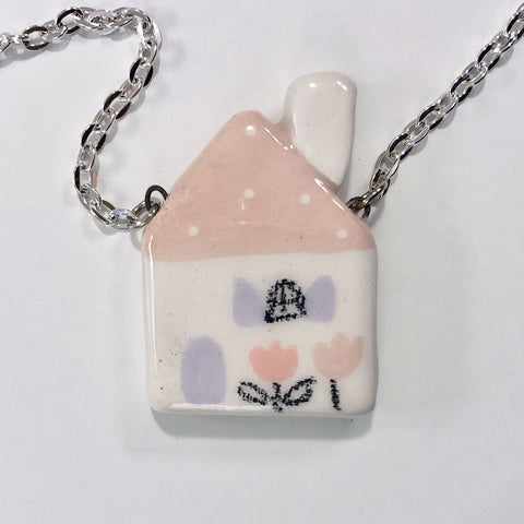 Ceramic House Necklace