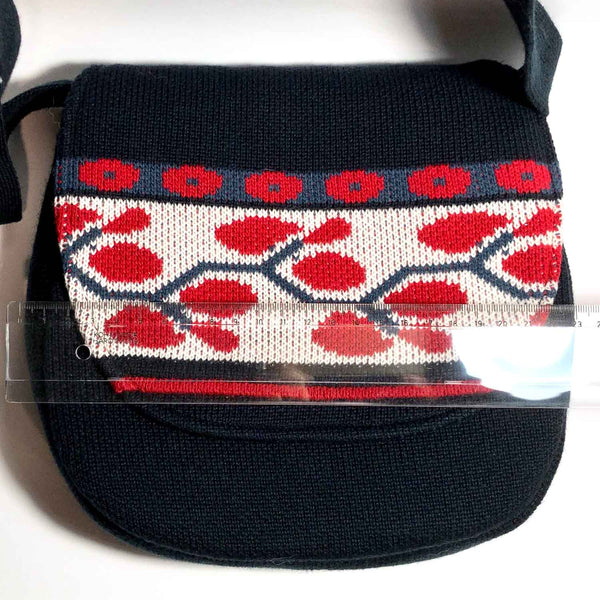 Knit Cherry Purse