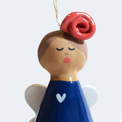 Large Ceramic Angel Bell