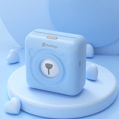 Portable Thermal Bluetooth Printer-blue